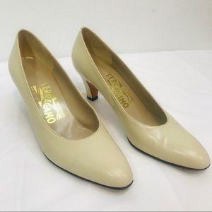 Salvatore Ferragamo Nude Heels - Size 6.5 AA